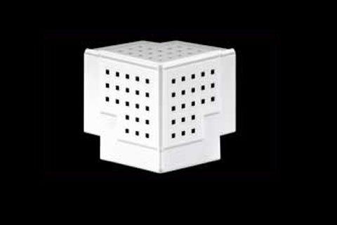 gripstik vinyl drywall corner transition cap - 90 degree 3 way splay corner cap