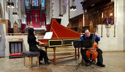 Phillip Serna performing with Emily Katayama. Coming Soon - the Emmanuel Episcopal Church of La Grange's Women in Music Festival