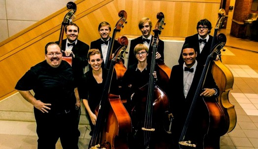Phillip Serna with his Double Bass students at Valparaiso University in Valparaiso, IN