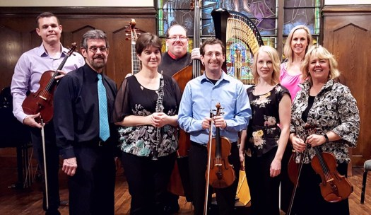 Phillip Serna performing with the NC4, the North Central College Chamber Collective - Jon Warfel, Tricia Wlazlo, Ben Nadel, Nichole Luchs, Claire Langenberg & Mara Gallagher