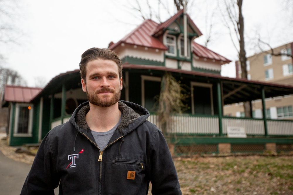 Jack Higgins, 23, is a member of the Undine Barge Club and a caretaker at Castle Ringstetten.