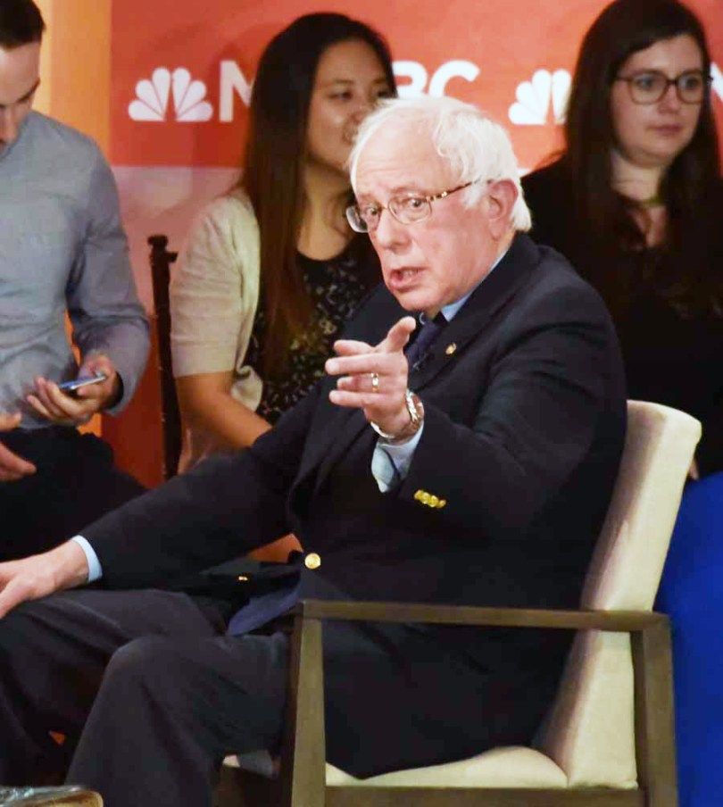 Bernie seemed optomistic about the turnout for today's primary, but did concede it would be a battle to win if he didn't win any delegates. He did say that his end goal was to beat the Republicans. That is not an option to have a republican as a president. Their goals do not match my goals at all.
