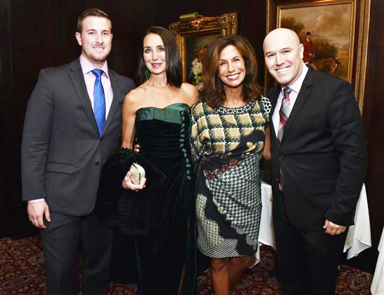Michael Callahan, Capital Grille Sommelier, Stephanie Brandow (wearing an evening gown perfect for the Academy Ball), Robin Eklund and Ryan Walker, GM Capital Grille