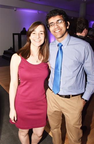 Lauren Cooper and Karim Merchant