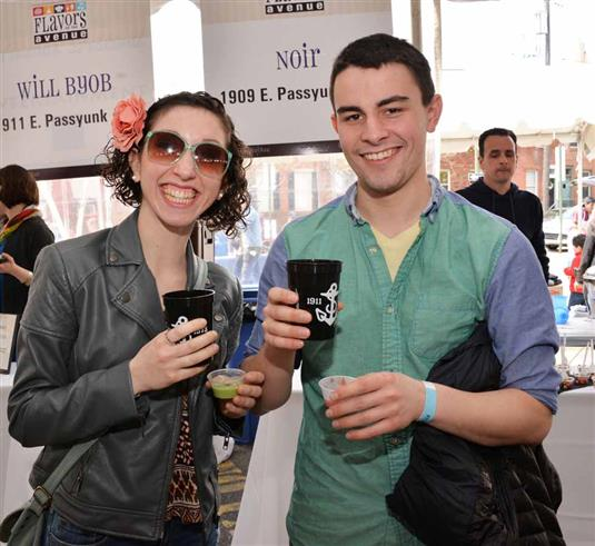 Beth Serowsky and Harry Jamison enjoy a Rum Runner from Lucky 13.