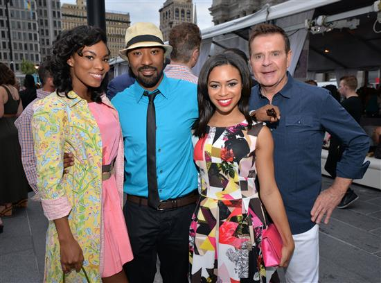 Kharisma McIlwaine, Aloysius Mcilwaine (just got back from Paris where he was paiting one of his beautiful murals), Alex Holley and Mike Jerrick of Fox 29's Good Day Philly.
