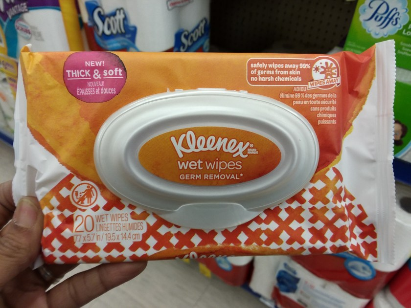 Kleenex wet wipes at wags