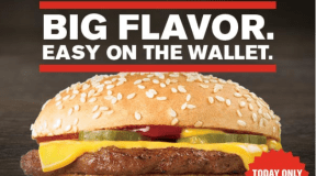 Checkers ~ Grab a All American Cheeseburger for just $0.69, Today Only!