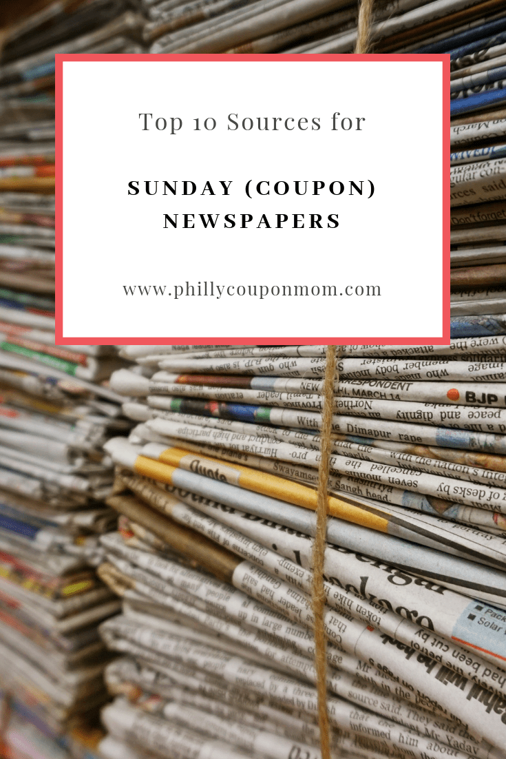 Top 10 Sources for Sunday (Coupon) Newspapers!