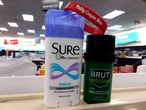 Sure or Brut at CVS - philly coupon mom