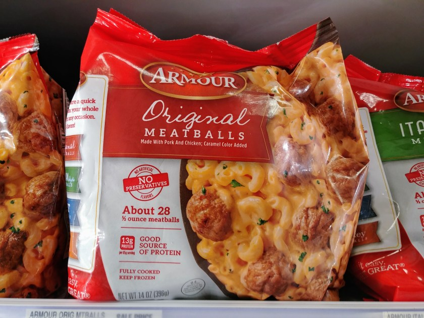 Armour Meatballs at Shoprite