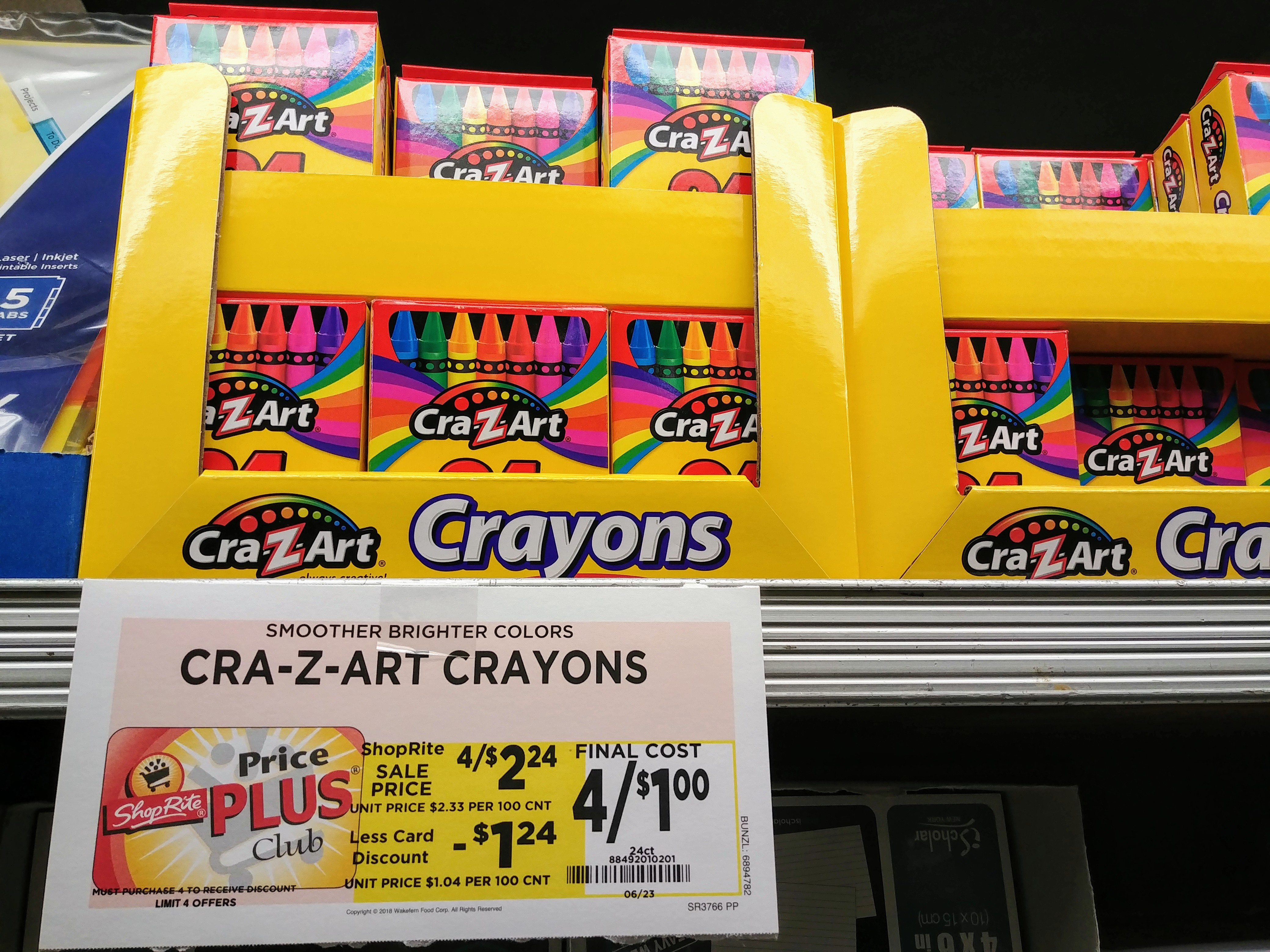 Cra-Z-Art Crayons at Shoprite