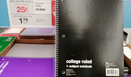 Staples 1 Subject Notebook