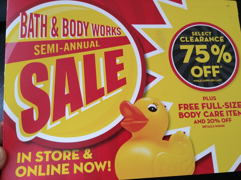 Bath & Body Works Semi Annual Sale Coupons