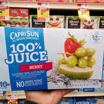 Capri Sun Fruit Drinks at Acme