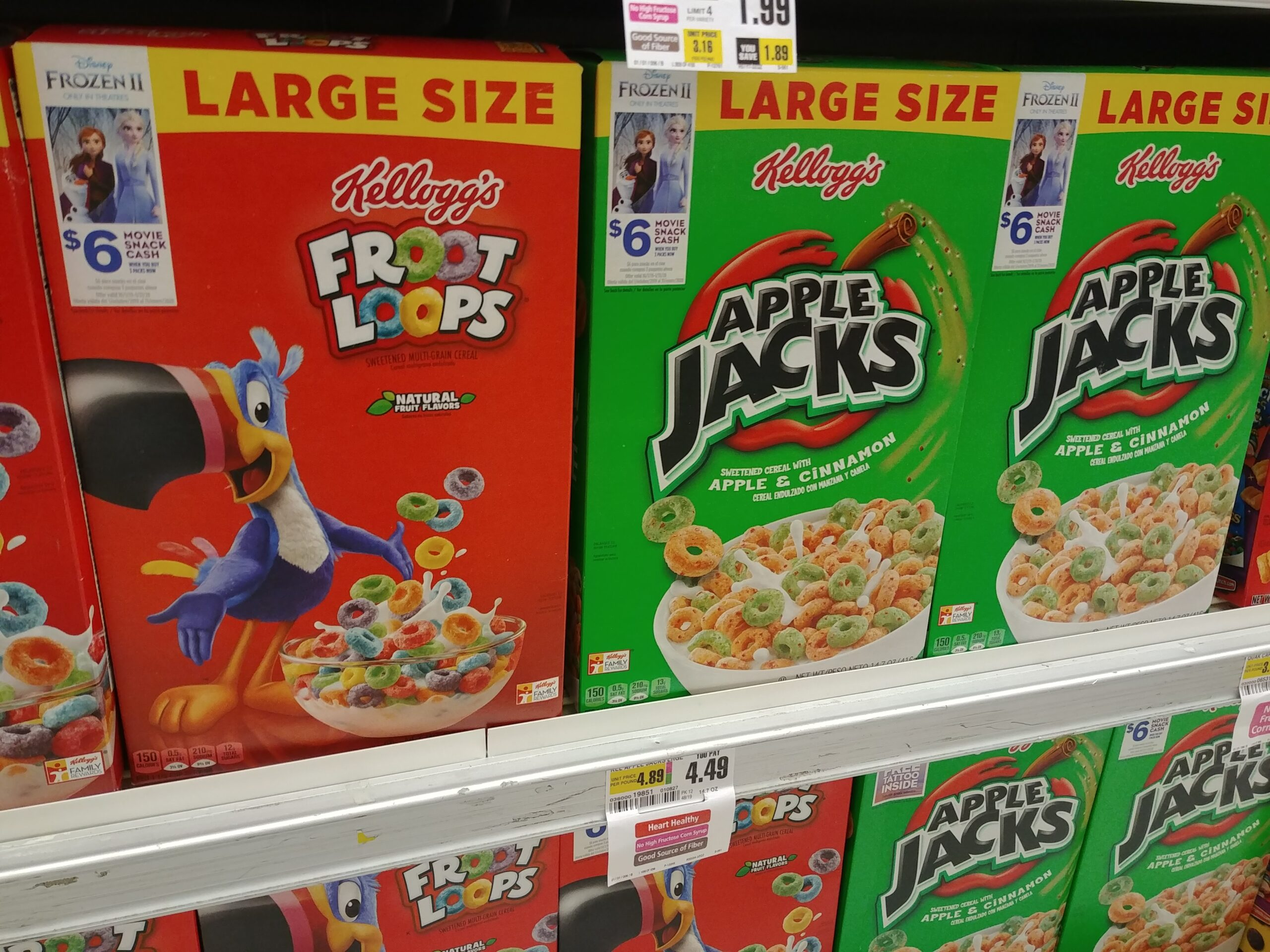 Kelloggs Cereal Large Size at Shoprite