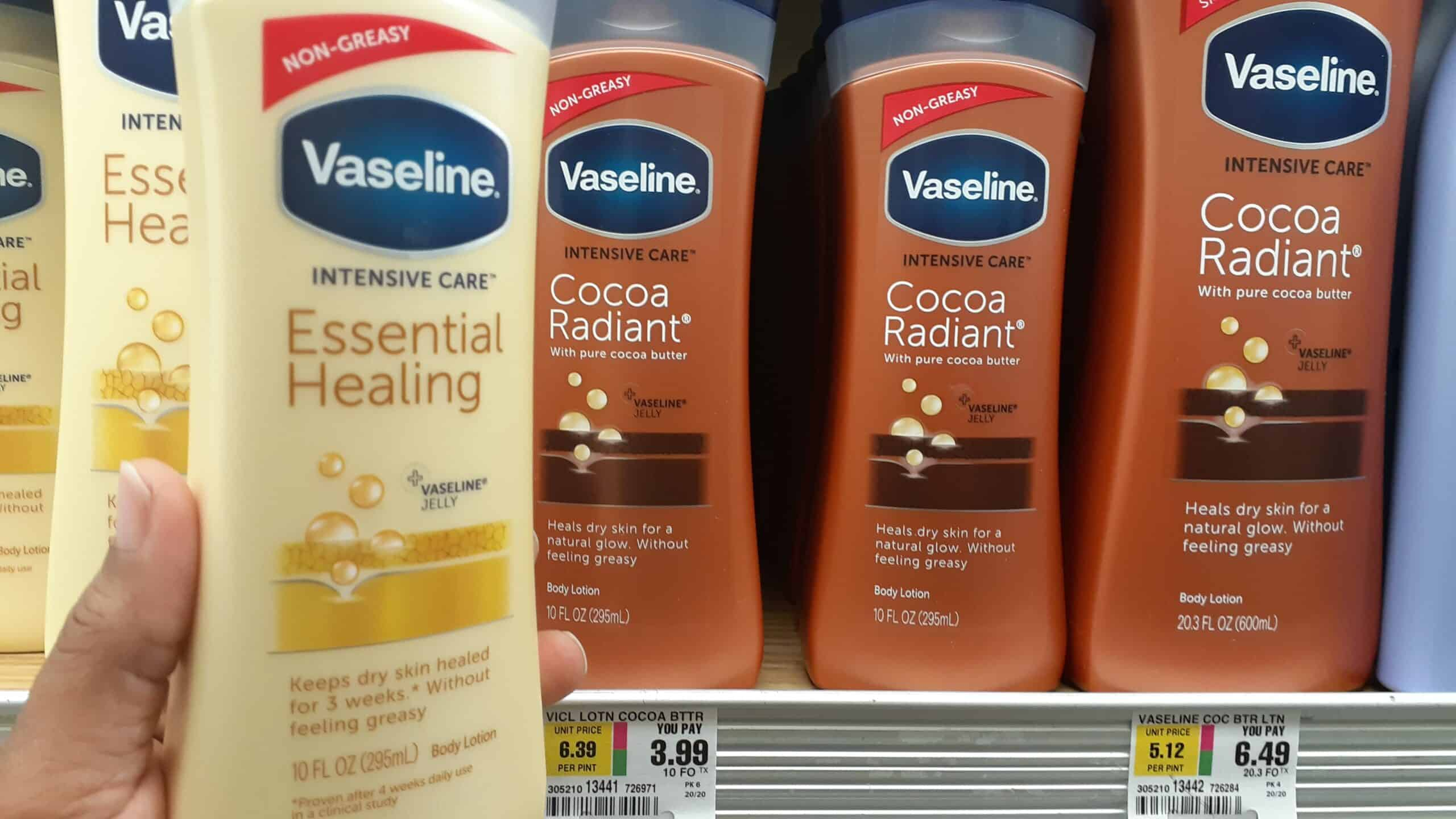 Vaseline Advanced therapy lotion at Shoprite