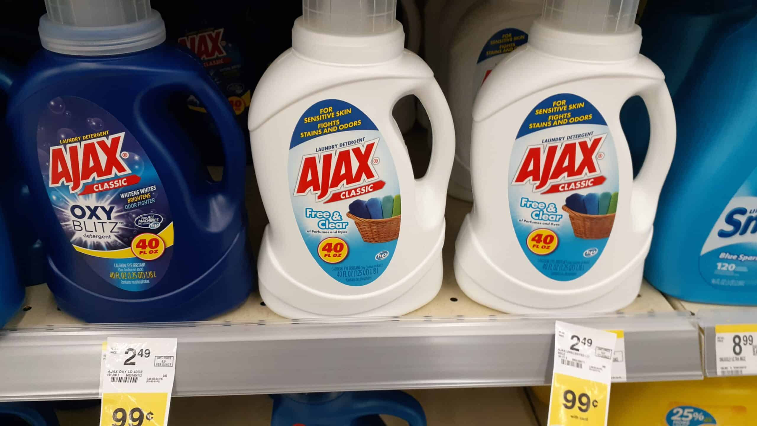 Ajax Laundry Detergent at Walgreens