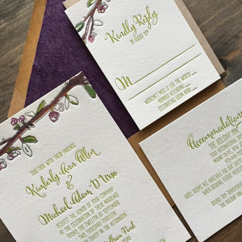 Wedding At Basic Invite Local Vendor Highlight Darling Pearl Custom Stationery