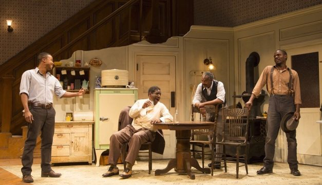 David Pegram, Cleavant Derricks, John Earl Jelks, and Stephen Tyrone Williams in The PIano Lesson. (Photo by T. Charles Erickson)