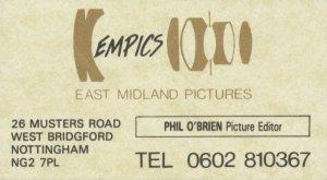 EMPICS Business Card c.1986