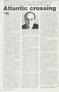 UK Press Gazette report of Digital 93