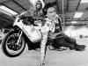 Motorcyclist Barry Sheene with wife Stephanie