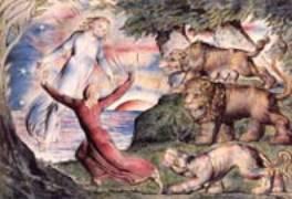 Poursuivi par trois fauves, Dante est sauvé par Virgile