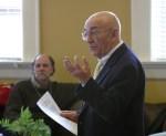 John Lachs facilitating a SOPHIA symposium in Oxford, MS.