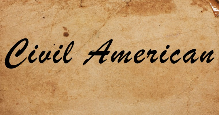 This is the logo for SOPHIA's peer-reviewed online public philosophy series, titled 'Civil American.'