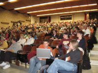 The turn-out for an event that Dr. Courtland organized at the University of Minnesota Duluth.
