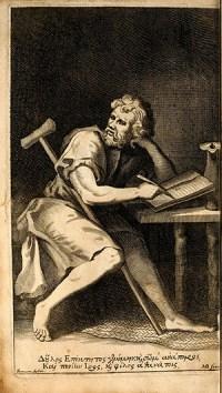 The philosopher Epictetus, sitting.