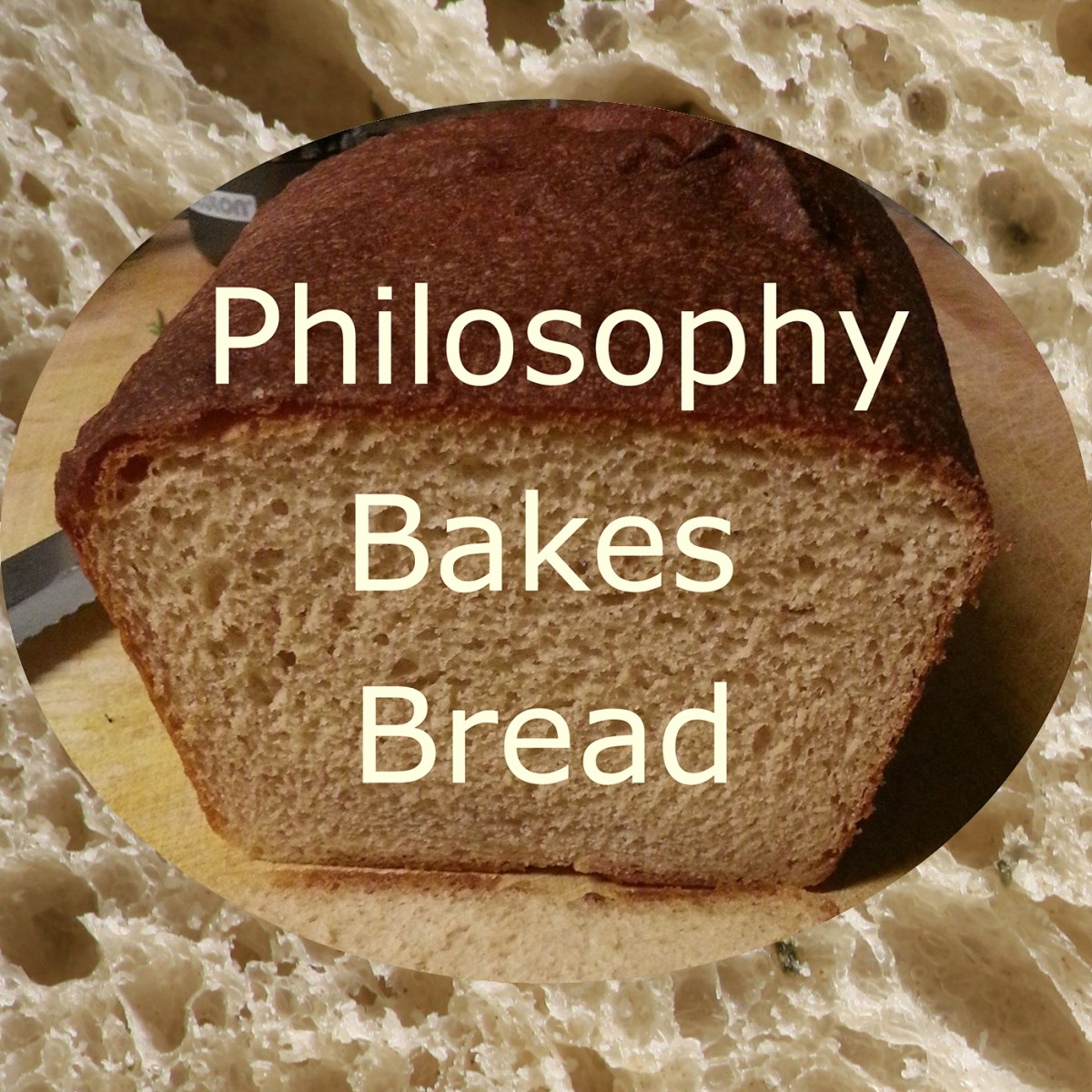 A logo for Philosophy Bakes Bread.