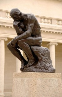 The statue called The Thinker, by Auguste Rodin.