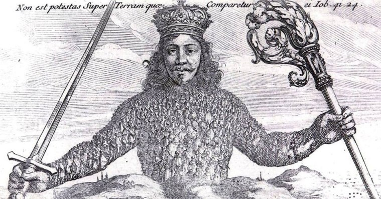 Iconic artwork from Thomas Hobbes's Leviathan, a text that was a great inspiration for this episode's guest, Dr. Shane Courtland.