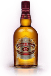 A bottle of Chivas Regal whiskey.