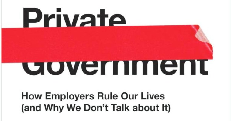 Cover image of Elizabeth Anderson's book, Private Government.