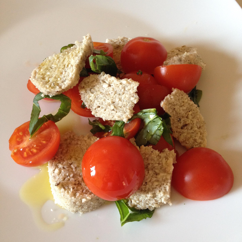 mozzarella végétale crue