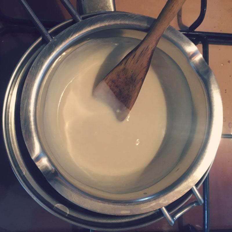 chocolat blanc fondu