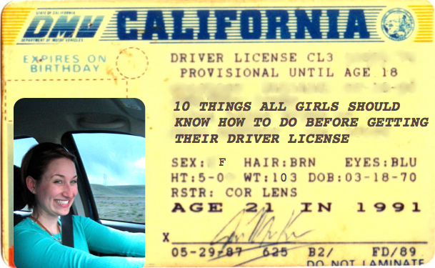 10 Things All Girls Should Know How To Do Before Getting Their Driver License