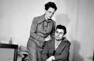 """FRANCE - 1948:  Francois Perier, Paula Dehelly in """" The Jean-Paul Sartre's dirty hands """". Producted of Jean Cocteau. Paris, theatre Antoine. March, 1948. LIP-012048-018.  (Photo by Lipnitzki/Roger Viollet/Getty Images)"""