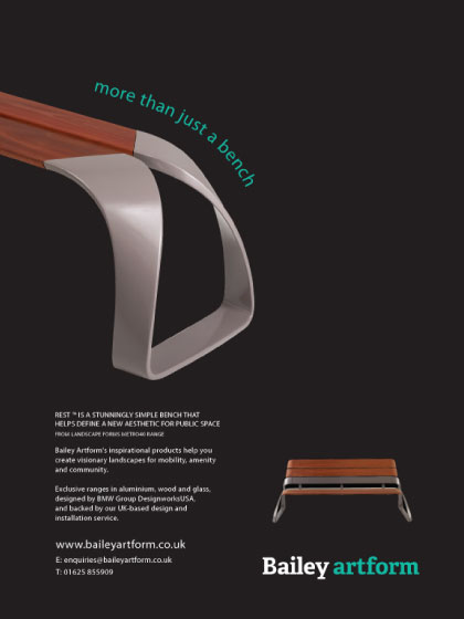 advertising design for street furniture