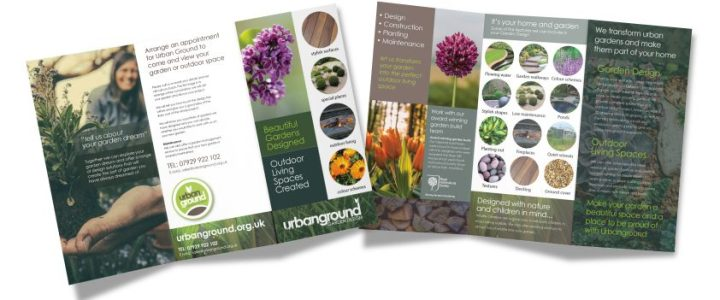 Leaflet Design for a Landscape designer