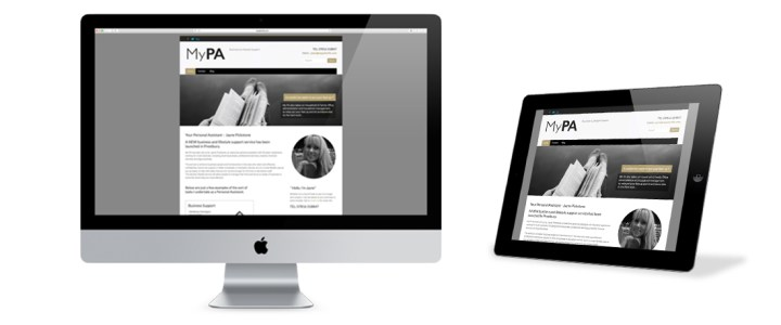 New website design for local Personal Assistant My PA