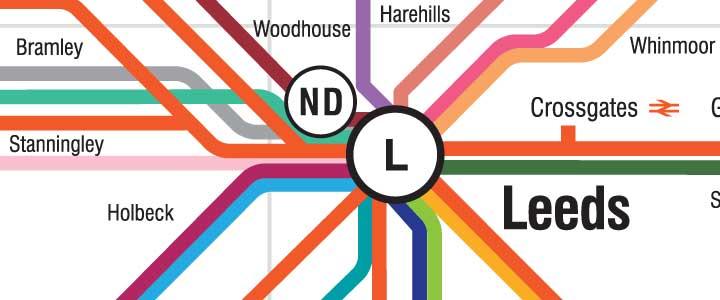 An underground style map design