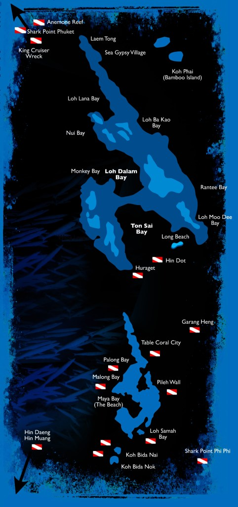 Dive sites of Koh Phi Phi, Thailand