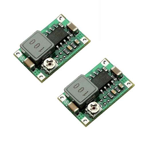 Mini 360 DC-DC Buck Converter Step Down Power Supply Module - 4.75-23V to 1-17V - Pack of 2