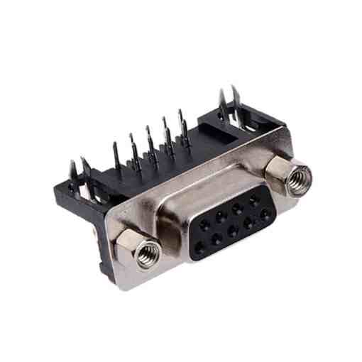 9 Pin Right Angle D-Sub Female Connector