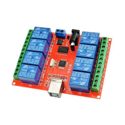 PHI1072272 – 8 Channel 5V Low Level USB Relay Module 02
