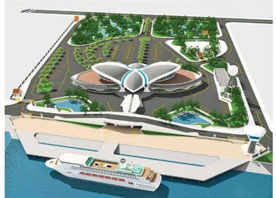 The proposed ferry terminal in Chhum Kreal.